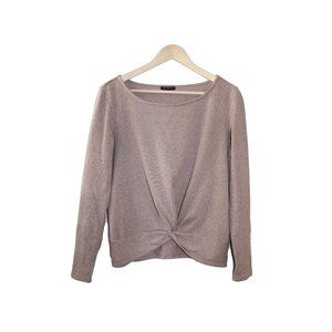 Dynamite Front Knot Round Neck Sweater